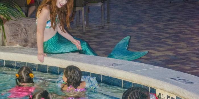 Movies with the Mermaid at Days Inn, Panama City Beach, FL