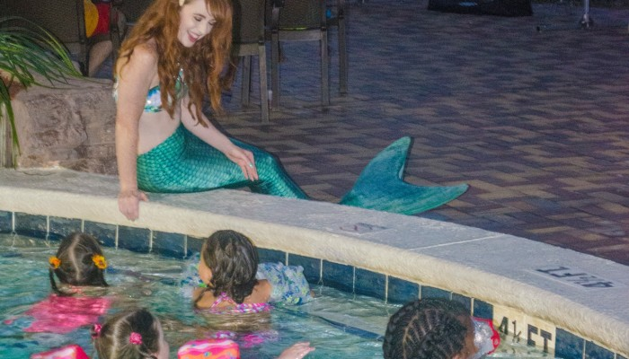 Movies with the Mermaid at Days Inn, Panama City Beach, FL
