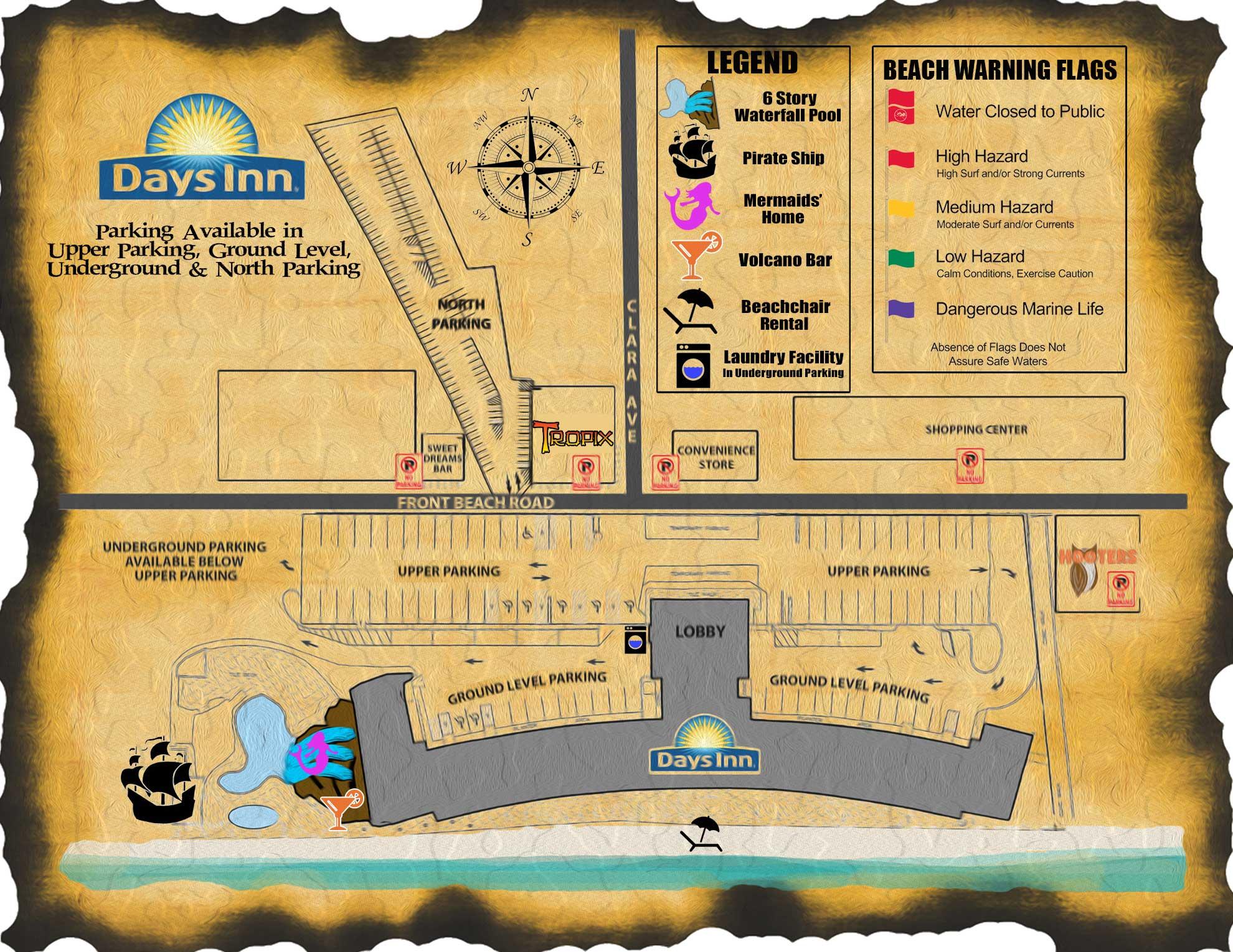 Days Inn Map | Days Inn Panama City Beach Florida Days Inn Map on